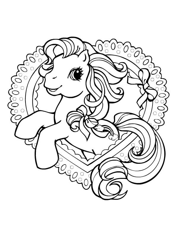Coloriage Mon petit poney aimable dessin gratuit à imprimer