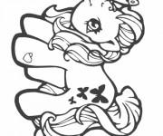 Coloriage Mon Petit Poney avec un papillon