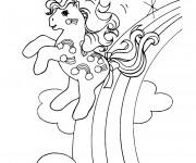 Coloriage Mon Petit Poney  dans l'arc-en-ciel
