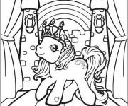 Coloriage et dessins gratuit Mon petit poney en couronne à imprimer