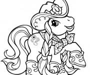 Coloriage Mon Petit Poney en mode cowboy