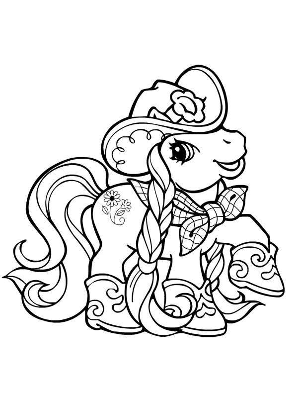 Coloriage mon petit poney en mode cowboy dessin gratuit imprimer - Coloriage petit poney ...