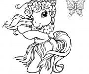 Coloriage Mon petit poney en mode hawaii
