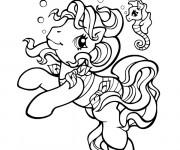 Coloriage et dessins gratuit Mon petit poney nage à imprimer