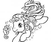 Coloriage Mon Petit Poney nage en mer