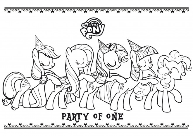 Coloriage my little pony dessin gratuit imprimer - My little pony a colorier ...