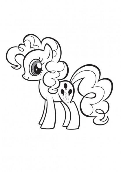 Coloriage et dessins gratuits Pinkie Pie mon petit poney à imprimer