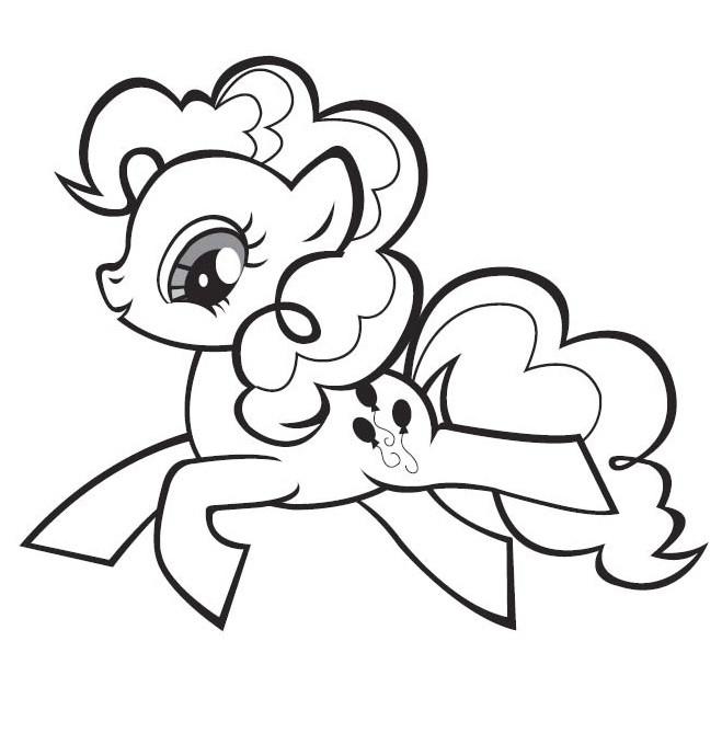 Coloriage et dessins gratuits Pinkie Pie saute à imprimer