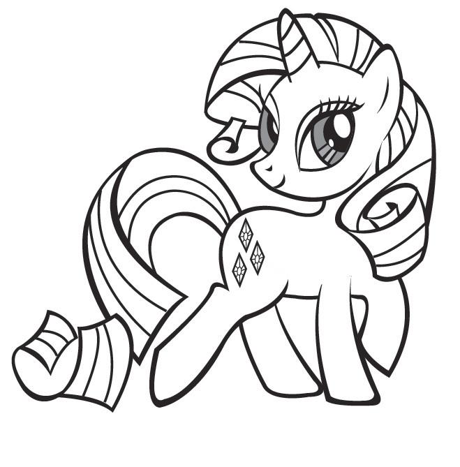 Coloriage rarity de mon petit poney dessin gratuit imprimer - Pony dessin anime ...