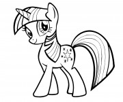 Coloriage Twilight Sparkle de Mon petit poney