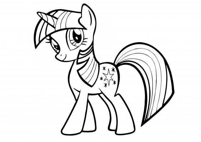 Coloriage et dessins gratuits Twilight Sparkle de Mon petit poney à imprimer