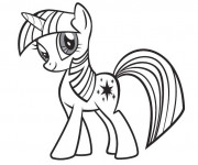 Coloriage Twilight Sparkle facile