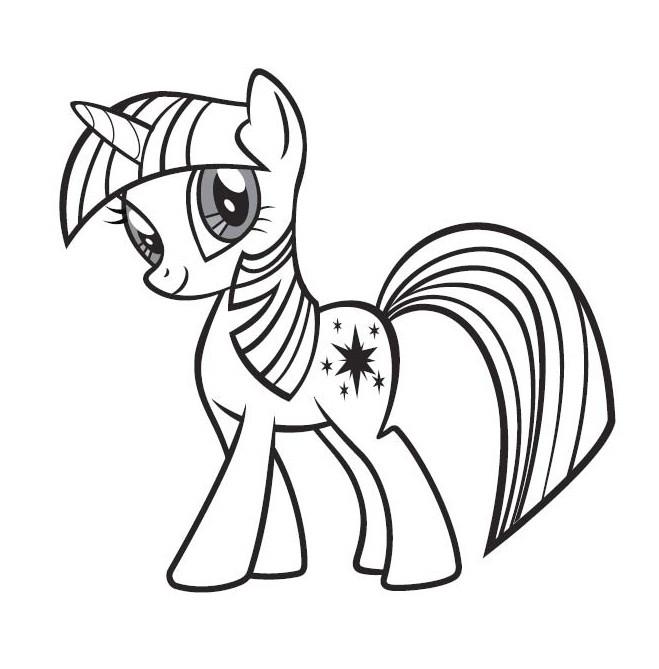 Coloriage twilight sparkle facile dessin gratuit imprimer - Dessin anime avec des poneys ...