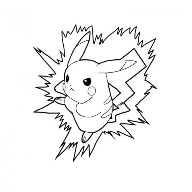 Coloriage Pikachu Légendaire Dessin Gratuit à Imprimer