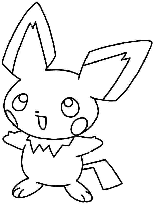 Coloriage et dessins gratuits Pikachu 15 à imprimer