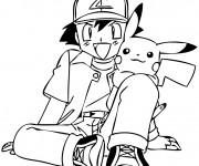 Coloriage et dessins gratuit Pikachu 17 à imprimer