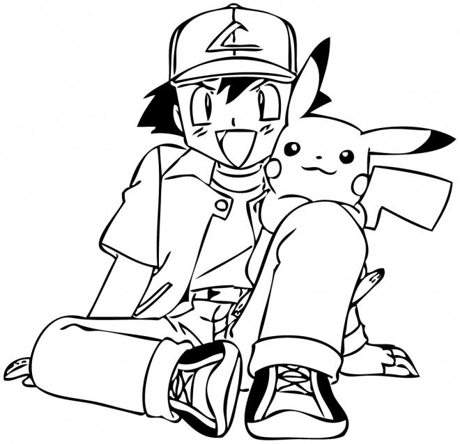 Coloriage et dessins gratuits Pikachu 17 à imprimer