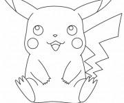 Coloriage et dessins gratuit Pikachu 18 à imprimer