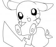Coloriage et dessins gratuit Pikachu 22 à imprimer