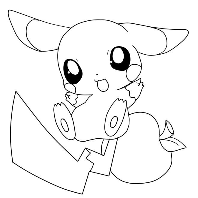 Coloriage et dessins gratuits Pikachu 22 à imprimer