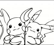 Coloriage et dessins gratuit Pikachu 25 à imprimer