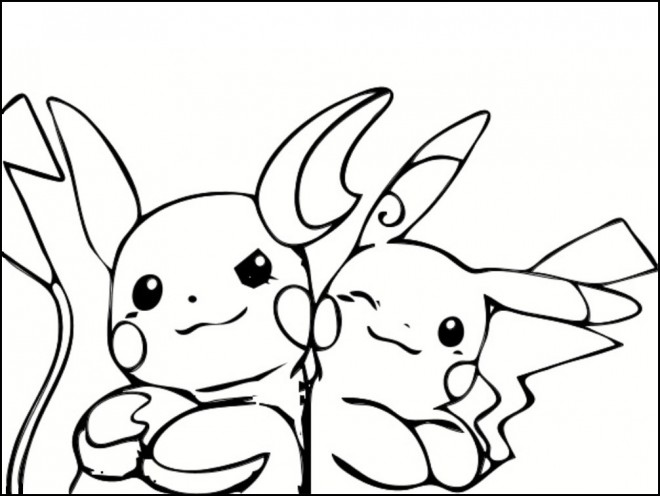 Coloriage et dessins gratuits Pikachu 25 à imprimer