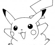 Coloriage Pikachu 26