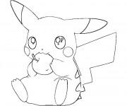 Coloriage et dessins gratuit Pikachu 27 à imprimer