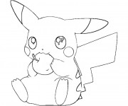 Coloriage Pikachu 27