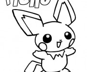 Coloriage Pikachu 28