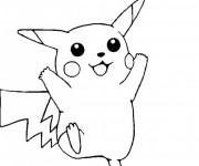 Coloriage et dessins gratuit Pikachu 3 à imprimer