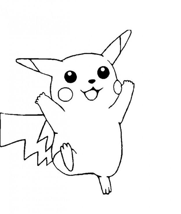 Coloriage et dessins gratuits Pikachu 3 à imprimer