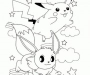 Coloriage Pikachu 31
