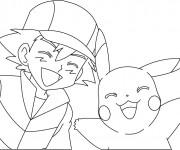 Coloriage et dessins gratuit Pikachu 33 à imprimer