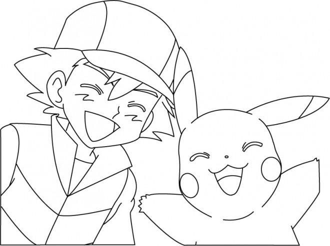 Coloriage et dessins gratuits Pikachu 33 à imprimer