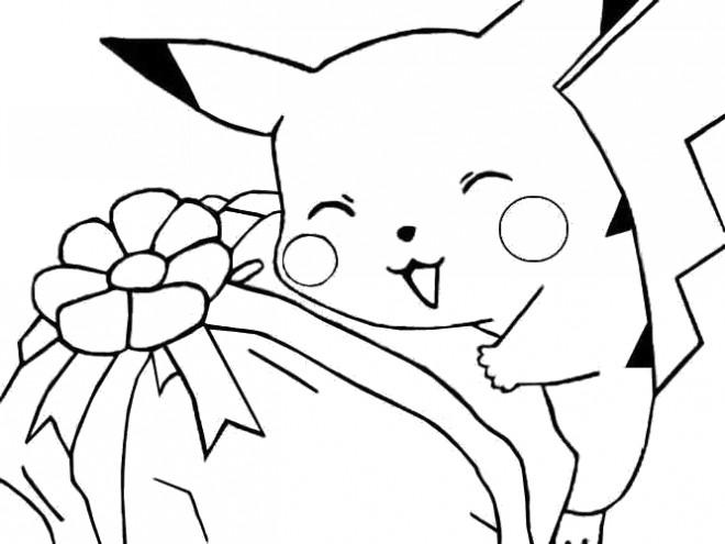 Coloriage et dessins gratuits Pikachu 36 à imprimer