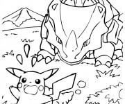 Coloriage et dessins gratuit Pikachu 37 à imprimer