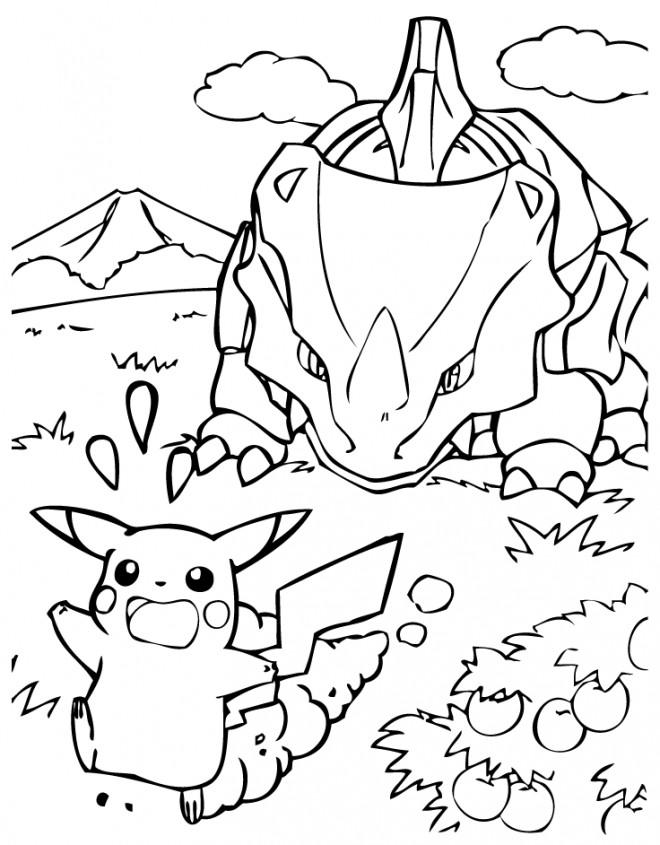 Coloriage et dessins gratuits Pikachu 37 à imprimer