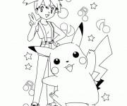Coloriage et dessins gratuit Pikachu 39 à imprimer