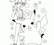 Coloriage Pikachu 39