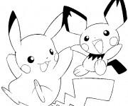 Coloriage et dessins gratuit Pikachu 41 à imprimer