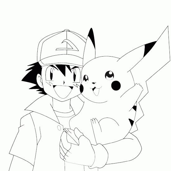 Coloriage et dessins gratuits Pikachu 44 à imprimer