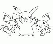 Coloriage Pikachu 45