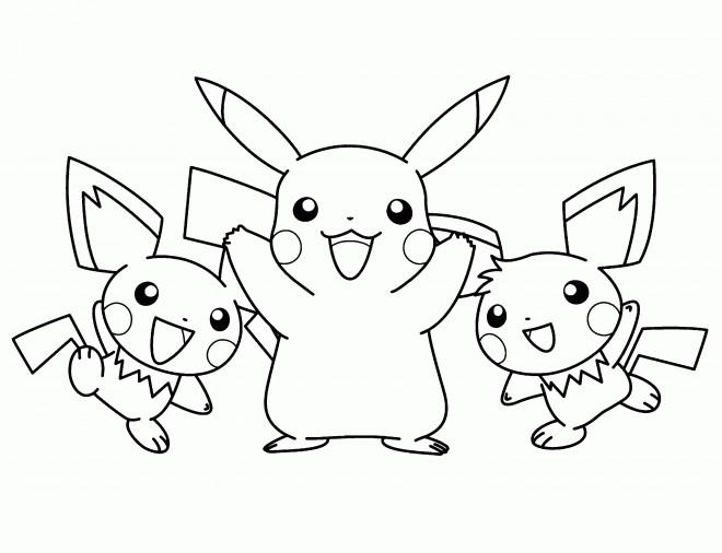Coloriage Pikachu gratuit à imprimer liste 20 à 40