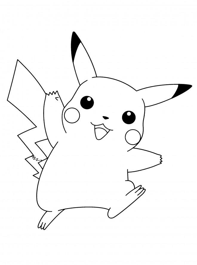 Coloriage et dessins gratuits Pikachu 46 à imprimer