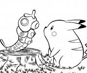 Coloriage Pikachu 47