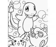 Coloriage Pikachu 54