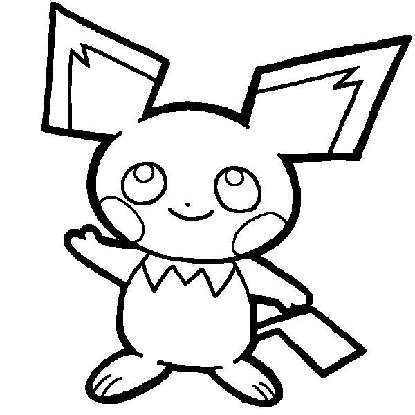 Coloriage et dessins gratuits Pikachu 55 à imprimer
