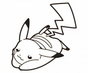 Coloriage Pikachu 6