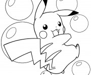 Coloriage et dessins gratuit Pikachu 9 à imprimer